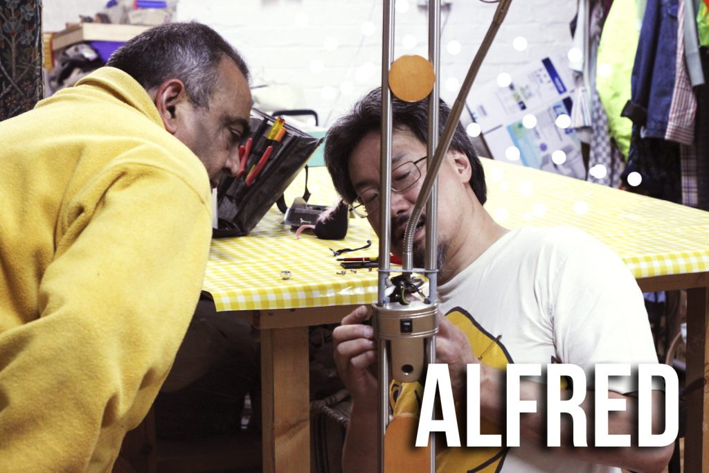 Alfred Manchester Repair Cafe volunteer and expert electrical items repairer