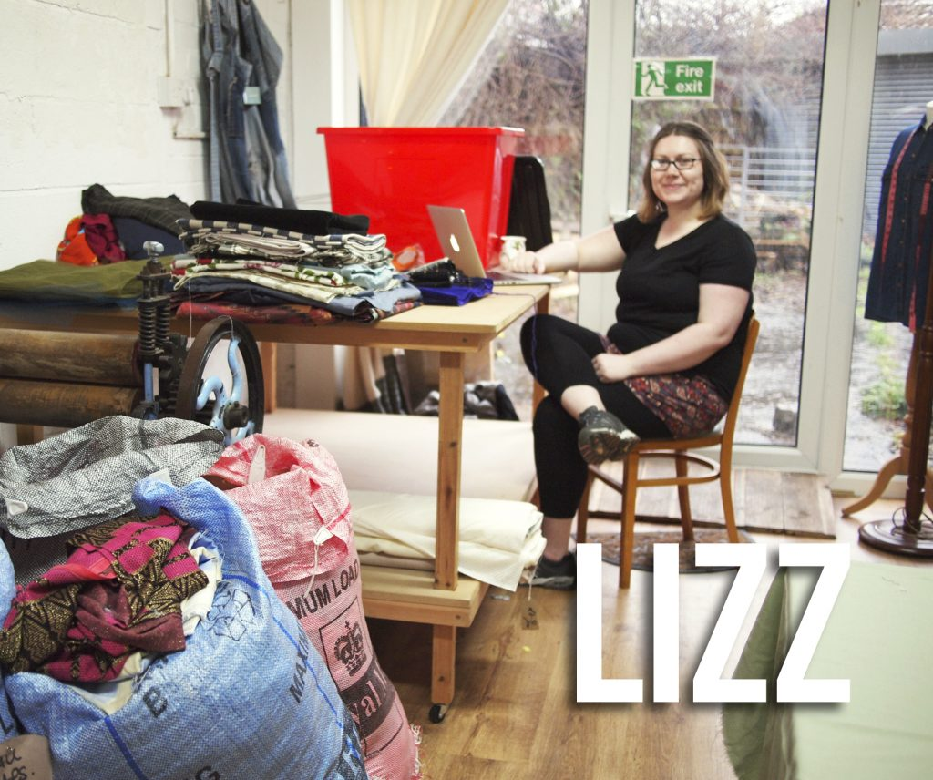 Lizz Stitched Up volunteer