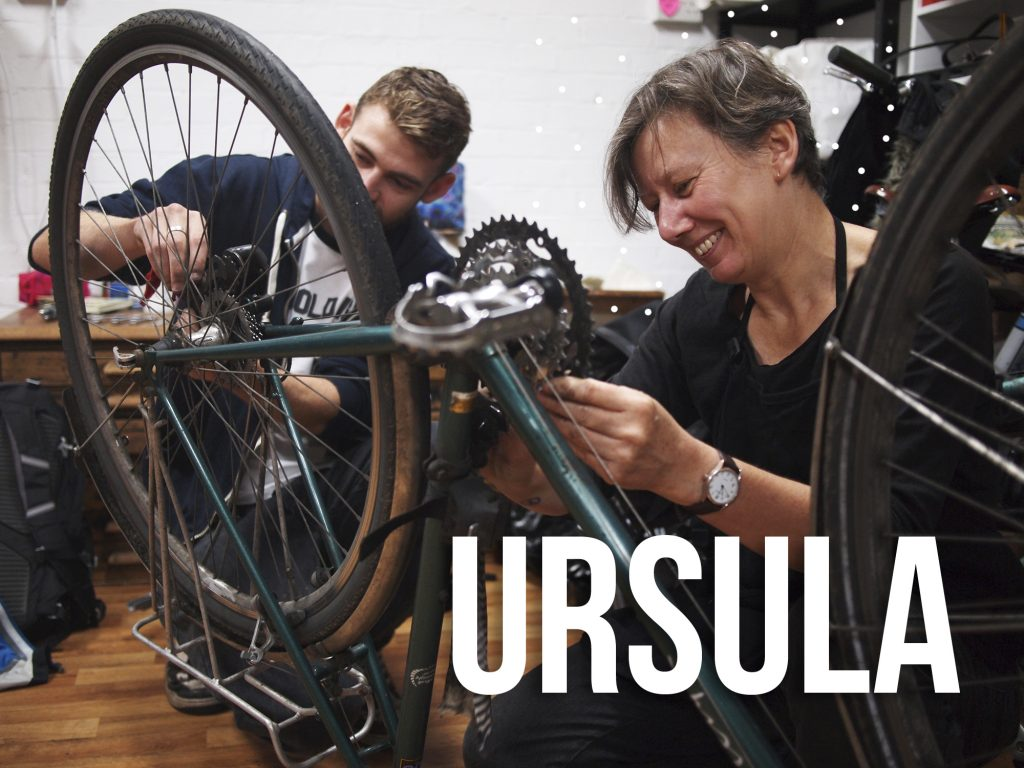Ursula manchester repair cafe bike repair expert